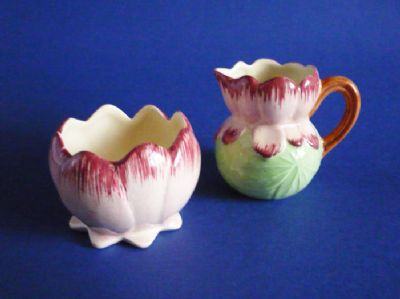 Shorter and Son 'Water Lily' Cream Jug and Sugar Bowl c1939 (Sold)
